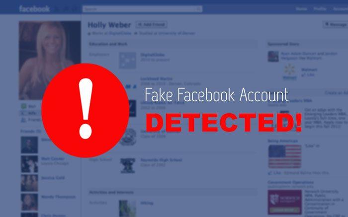 Fake Facebook Account Detected