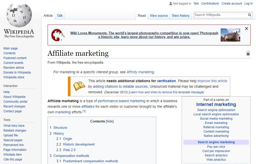 affiliate marketing wikipedia