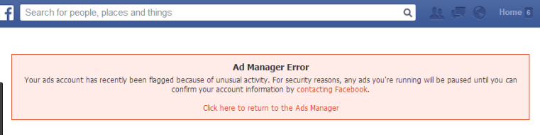Ad Manage Error