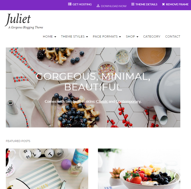 Juliet Theme