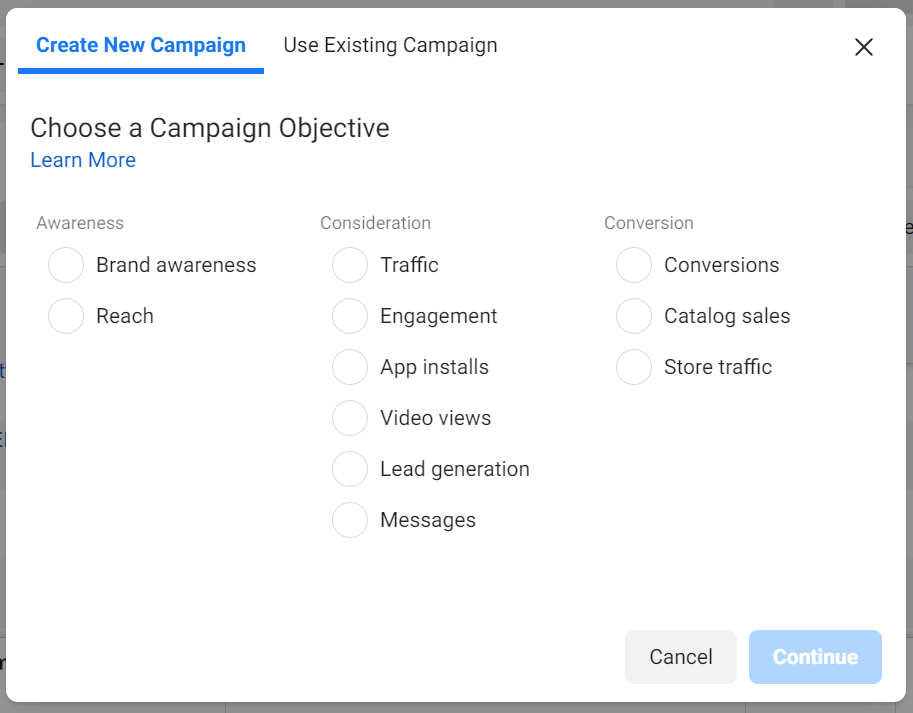 Selecting Lead Generation Campaign